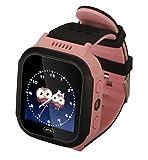 Smartwatch con localizzatore GPS, sicuro per i bambini, chiamate di emergenza, localizzatore per i bambini, red