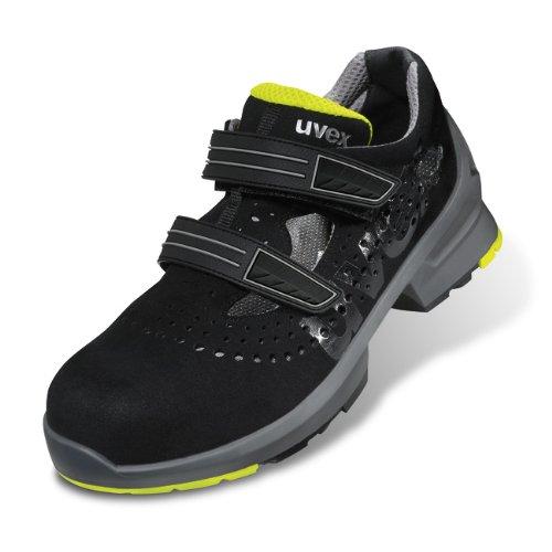 """Uvex Sicherheits-Sandale """"uvex 1"""" S1, SRC, Weite 11, Größe 50 Schwarz"""