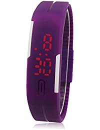 FEITONG Nuevo Delgado chica de hombres Deportes Silicona LED digital Reloj de pulsera deportivo