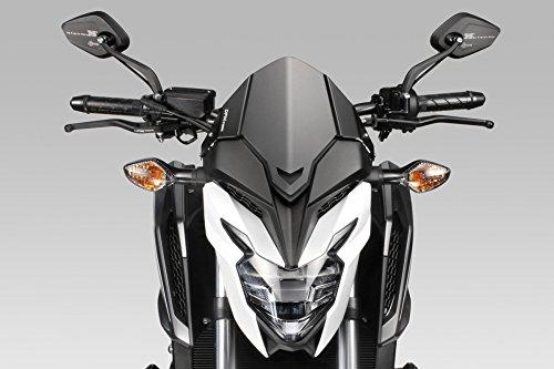 CB650F 2017 - Windschutzscheibe 'Warrior' (R-0820) - Aluminium Windschild Windabweiser Scheibe - Einfache Installation - Mattschwarz - Motorradzubehör De Pretto Moto (DPM) - 100% Made in Italy