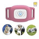 Mini gps hund cat tracker locator für £ haustiere wasserdicht ip67 echtzeit aktivitätsmonitor agps £ sms positionierung tracking gerät mit kragen enthalten sim karte (rosa)