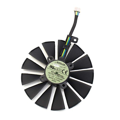 Price comparison product image iHaospace T129215SM 12V 0.25A 4Pin Video Card Cooler for ASUS ROG POSEIDON GTX 1080 TI STRIX RX 570 470 580 GTX 1070 1050 Ti Graphics Card Cooling Fan