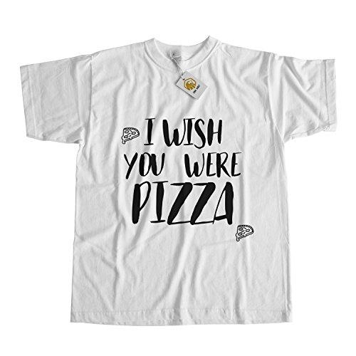 I Wish You Were Pizza shirt Pizza tshirt love pizza Weiß