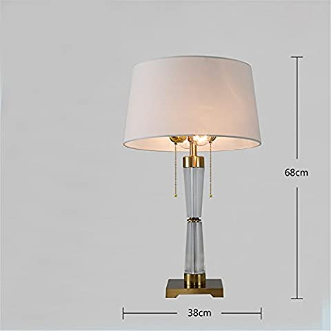 XIAOLE Hotel Table Lamp Postmodern Living Room Bedroom Bedside Desk Reading Lamp Personality Creative Model Table Lamp,Pearl Chain 38*68Cm