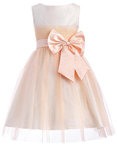 Yafex Damen Hellorange Kind Maedchen Cosplay Kleid 9-10 jahre