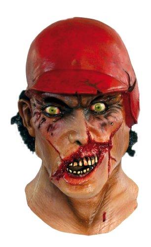 GHOULISH Halloween Kostüm-Toten Teig Maske - Gruselig Baseball Gesicht w Helm-Latex