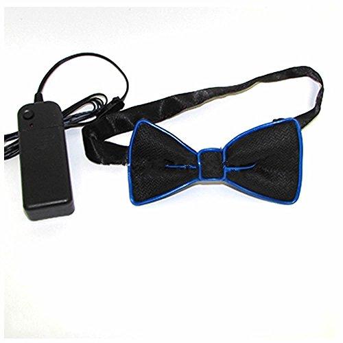LED Fliege von GOOTRADES für Partys und Feier, 4 Farben (Blau) (Farbe Passt Kostüme)