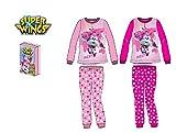 Dizzy Super Wings Pijama Polar Color Rosa - Fucsia - Superwings Pijama Premium Polar, en Caja de Regalo (Fucsia, 5)