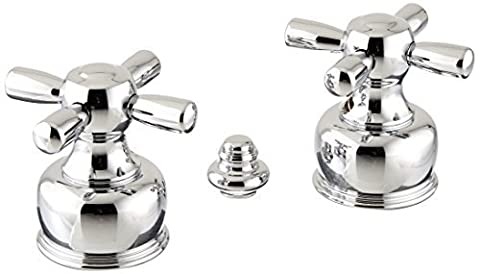Delta Faucet H26 Neostyle, Two Metal Cross Handle Kit, Chrome by DELTA FAUCET