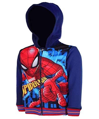 Jungen Spiderman Hooded Zip Kapuzenoberteil Pullover Jacken Alter 3 bis 8 ()