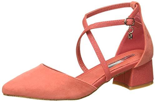 XTI 32094, Zapatos de tacón con Punta Cerrada para Mujer, Azul Coral Coral, 38 EU