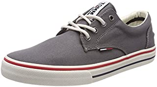 Tommy Jeans Hilfiger Denim Textile Sneaker, Scarpe da Ginnastica Basse Uomo, Grigio (Steel Grey 039), 42 EU (B078T6R1GG) | Amazon price tracker / tracking, Amazon price history charts, Amazon price watches, Amazon price drop alerts