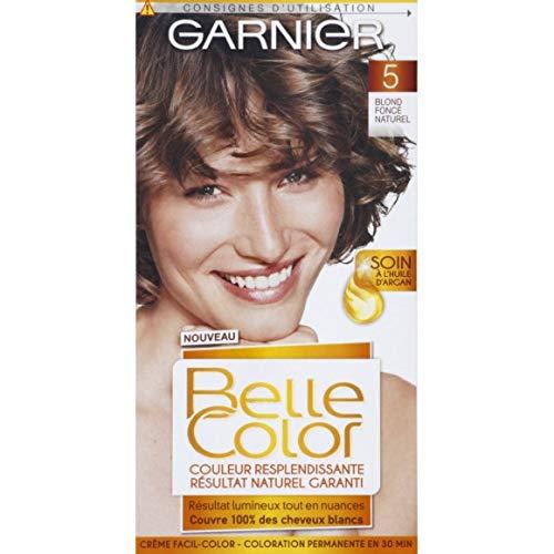 Garnier - Crème Facil-Color Blond Foncé Naturel 5 - Belle Color - 120Ml - Lot De 3 - Vendu Par Lot - Livraison Gratuite En France