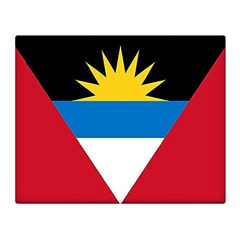 Antigua und Barbuda Flagge 25,4x 20,3cm vorgebohrt Metall Schild 009