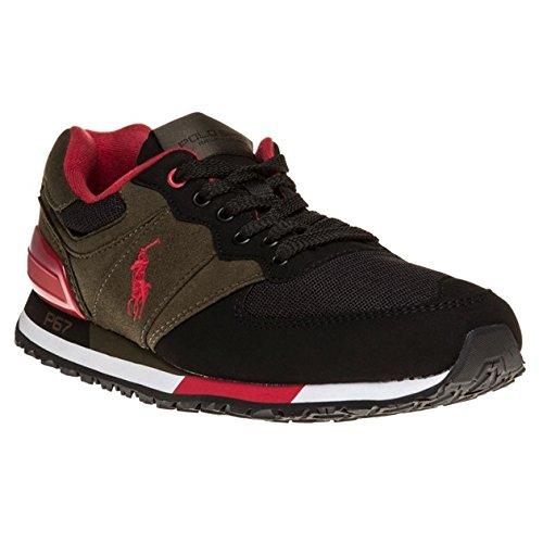 Polo Ralph Lauren SLATON PONY Sneakers Basse Uomo Verde/nero 44