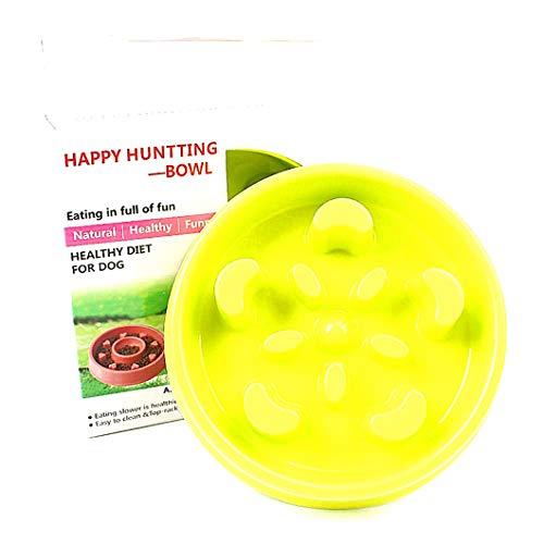 Beito Dog Slow Food Bowl Pet Bowl Anti-Milbe Hilfe Verdauung Pet Diner Feeder Anti-Obesity (Grün) -