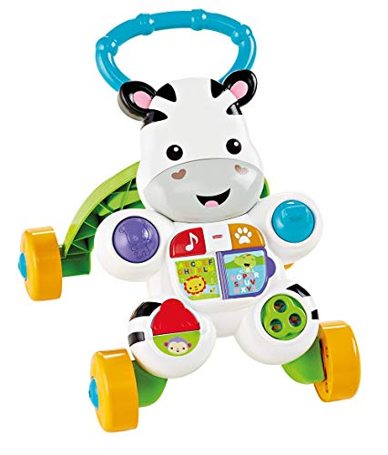 Zebra Talking Fisher-Price Premiers pas, Baby Ride +6 mois (Mattel DLD84)