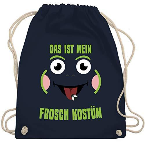 Karneval & Fasching - Das ist mein Frosch Kostüm - Unisize - Navy Blau - WM110 - Turnbeutel & Gym Bag