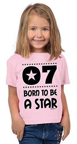 Zum 7. Geburtstag - Lustiges Kinder T-Shirt, Funshirt, Sprücheshirt, Geburtstagsshirt - 7 Born to be a Star