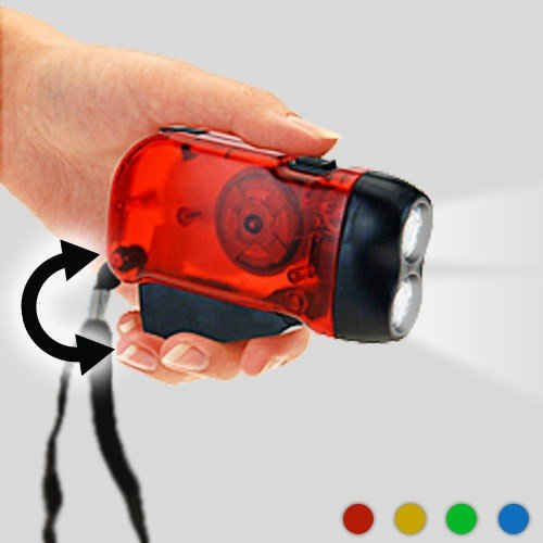 CEXPRESS - Dynamo Taschenlampe (2 LEDs)