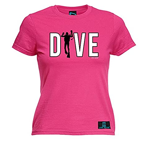 PREMIUM OPEN WATER - Women's Dive Scuba Man LADIES FITTED T-SHIRT tee / scuba diving gift diver christmas funny snorkle reef mask wetsuit dive birthday