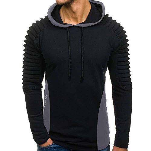 Sweatjacke Herren Pullover,Kanpola Sport Fitness Sweatshirt mit Kapuze Shirt Hoodie Slim Fit Kapuzenpullover - Hybrid Duffle