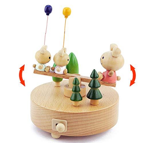 Ainim carillon in legno cubs, carillon a festoni, decorazione della casa creativa, regalo