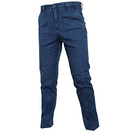 Zhang Muying Jeans Uomo Tasca America Vita Alta 46 48 50 52 54 56 58 60 (58)