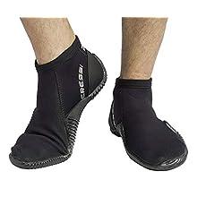 Cressi Unisex's Low Shorty Boots Neoprene 2 mm, Black, XXL (EU 46/47 UK 11/12)
