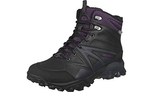 Merrell Capra Glacial Ice Mid W chaussures d'hiver Gris Anthracite foncé