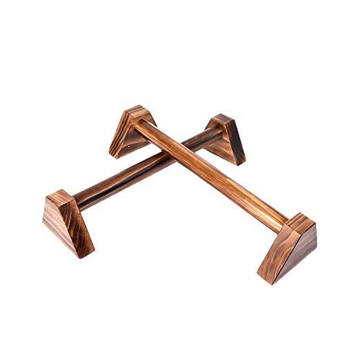 SinceY Liegestützgriffe Push up liegestützgriffe Holz Handstand - Griffpumpe aus Holz Push-up-Stangen Bodybuilding Yoga für Mann Frau Kind 25cm 1 Paar