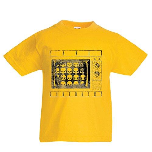Lepni.me maglietta per bambini/ragazzi la televisione - tv - generatore di attacchi di panico - sintomi di disturbo ossessivo-compulsivo (5-6 years giallo multicolore)