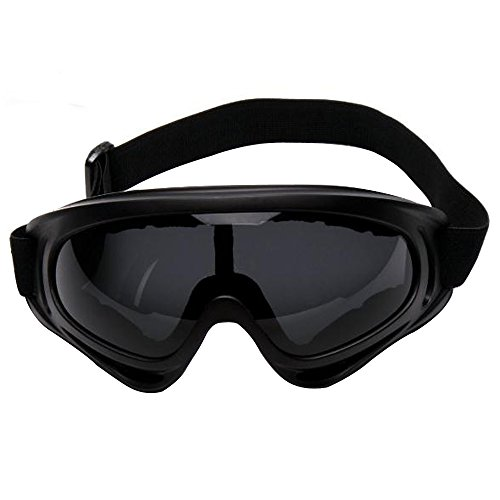 Sijueam Hohe Zähigkeit Skibrille Goggles UV Schutzbrille Getönte Gläser Sonnenbrille für Outdoor Aktivitäten Skifahren Radfahren Wandern Snowboarding Grau