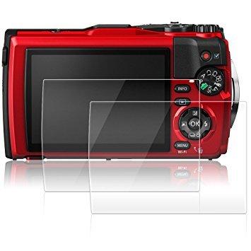 Films de Protection d'Ecran pour Olympus Tough TG-5, AFUNTA Lot de 2 Protecteurs Imperméables en Verre Trempé Optique pour Caméra Digital DSLR