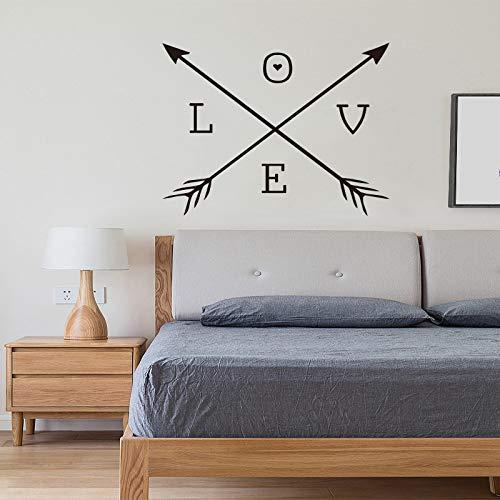 AMORE Frecce Adesivi murali in vinile Freccia cuore Wall Sticker Home Decor Carta da parati per soggiorno Home Mural Wall Art Fresco DW 60x60cm