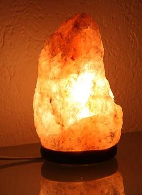 Salzkristall Leuchte, Kristall Lampe, 1,5-3,25kg Salzstein von Mendler auf Lampenhans.de