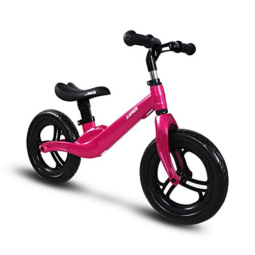 """COEWSKE 12 """"Balance Bike Magnesium Alloy No Pedal Walking Balance Entrenamiento Bicicleta para niños y niños de 2 a 5 años (Rosa Roja)"""