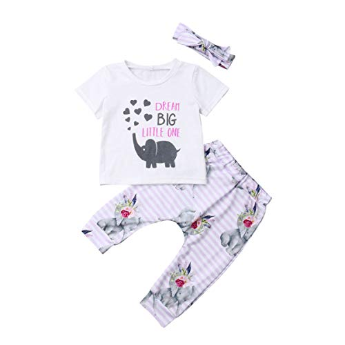 Infant Baby Girls Dream Big Little One Camiseta +