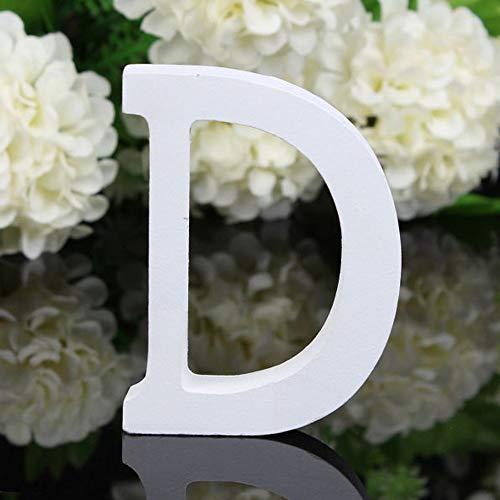 Alaso - Letras Decorativas de Madera, 26 Letras Blancas de Madera, para...