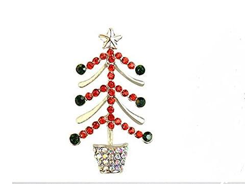 Nine tail fox Broche de diamants d'arbre de Noël cadeau de la fête des mères corsage pin accessoires de vêtements ,