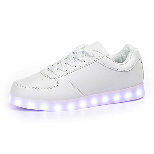 Envio-24-Horas-Usay-like-Zapatillas-LED-Con-7-Colores-Luces-Carga-USB-Blanco-Negro-Dorado-Plateado-Rojo-Hombre-Mujer-Unisex-Talla-35-hasta-46-Envio-Desde-Espaa