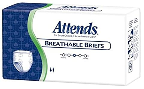 Attends Breathable Fitted Briefs w/ Flex Tabs, Size XXL, Case/48 (4 bags/12)