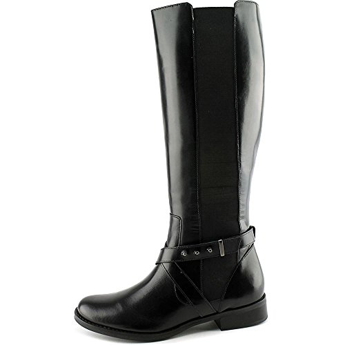 Steven Steve Madden Sydnee Wide Calf Large Cuir Botte Black