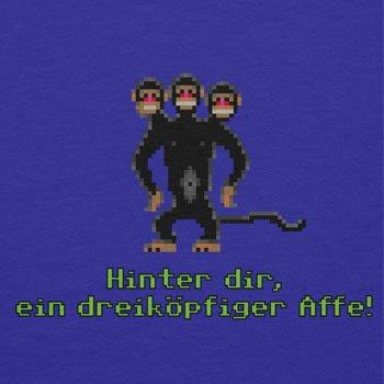 NERDO - Dreiköpfiger Affe - Herren T-Shirt Marine