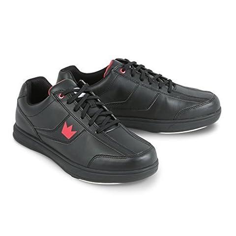 Brunswick Edge Herren Bowling Schuh Weiß, Herren, schwarz