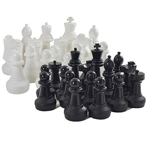 Garden Games GIANT Chess Set Teile–King Maßnahmen 64cm hoch Boden ist 23cm im Durchmesser - Sockel Schach