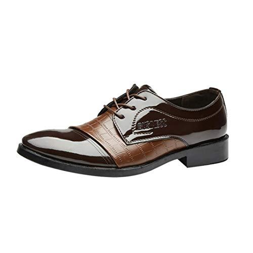 LuckyGirls Chaussure en Cuir d affaire pour Homme Soulier en Motif de  Crocodile Chaussure de b24471d0beb1