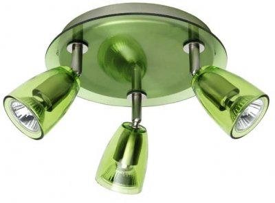 """Deckenleuchte Rondell """"RED"""" grün 3x 50W GU10 Lampe von Brilliant - Lampenhans.de"""