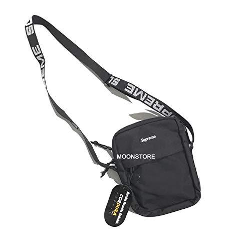 Amaskyline Streetwear Dope Shoulder Bag Schultertasche/Kuriertasche Alphabet Embroidery Straps Limited Edition Schwarz