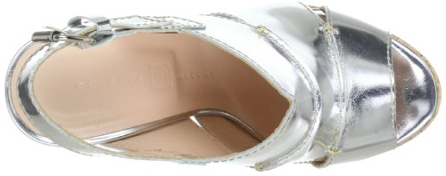 Objects in Mirror B842, chaussures compensées femme Argent - Silber (Argento)